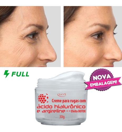 Creme Anti Rugas Com Ácido Hialurônico - Efeito Botox Lucy's