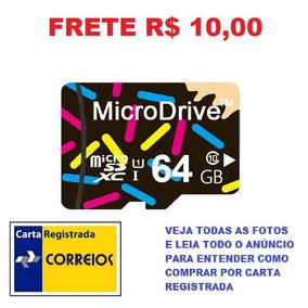 Cartão De Memória Micro Sd 64gb Classe 10 Hc Frete R$ 10