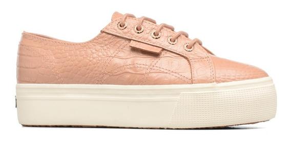 Zapatillas Mujer Rosa Superga Cuero 2790
