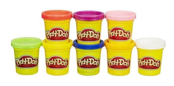 Play-doh Massinha Kit Arco-íris 8 Potes Hasbro A7923