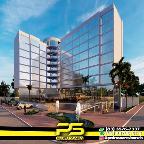 Imagem 1 de 10 de Flat Com 1 Dormitório À Venda, 34 M² Por R$ 294.355,00 - Ponta De Campina - Cabedelo/pb - Fl0083