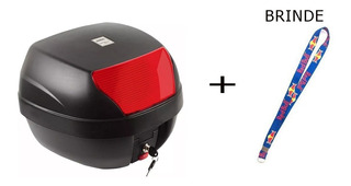 Baú Bauleto Para Moto 28 Litros+ Chaveiro De Brinde