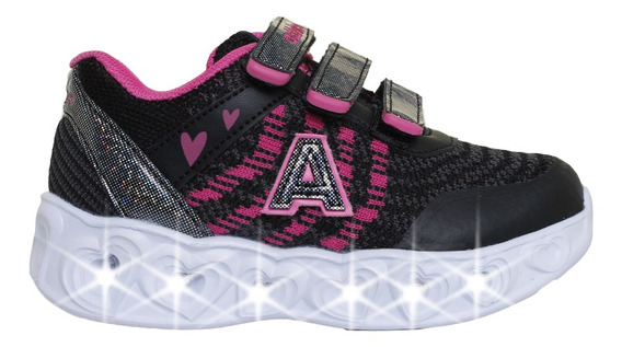 Zapatillas Addnice Moda Arrow Corazon Abrojo Niña Ng/fu