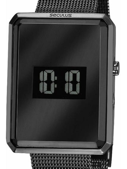 Relógio Seculus Digital Feminino Original 77061lpsvps2 Preto C/ Nf-e