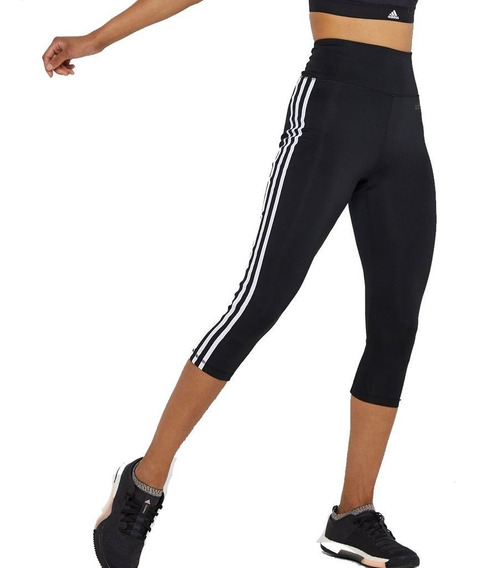 Calza 3/4 adidas W D2m 3 Stripes Mujer - Fitness Running