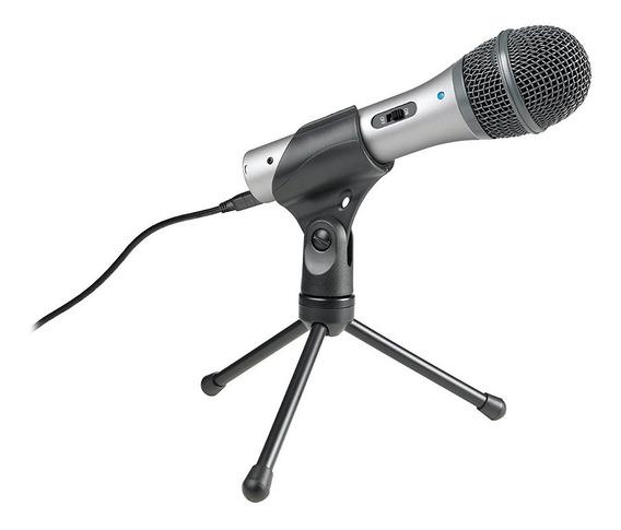 Microfone Audio Technica Dinâmico Usb Xlr Atr2100   Nfe