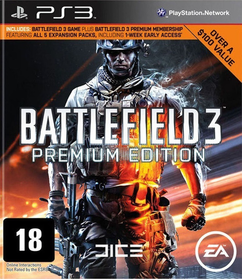 Battlefield 3 Premium Edition Ps3 - Midia Digital