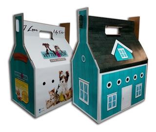 Transportador Gato Mascota Carton Casa Rascador Cucha