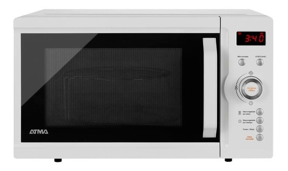 Microondas Atma Md1723gn 23 Litros Digital Grill Blanco 12c