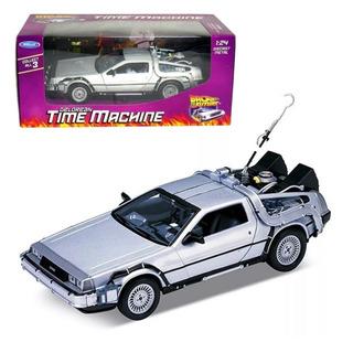 Carro Volver Al Futuro - I Ii Iii Delorean Toy Welly 1:24