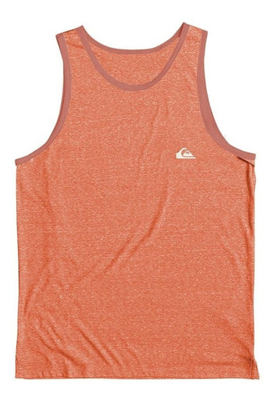 Quiksilver Musculosa Hombre Small Chest Logo Naranja