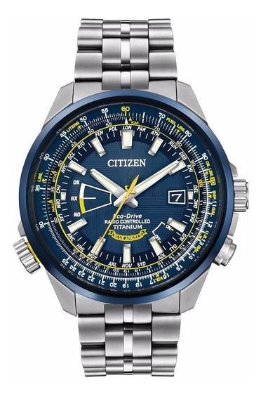 Relógio Citizen Eco-drive Titanium Blue Angels Cb0147-59l