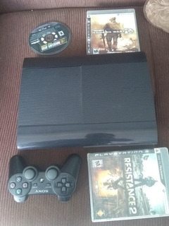 Ps3 Super Slim 250gb +3 Juegos