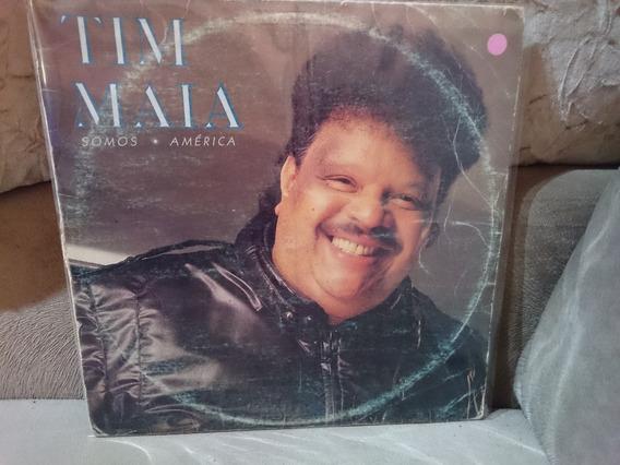 Lp Tim Maia Somos America 1987 Frete Gratis