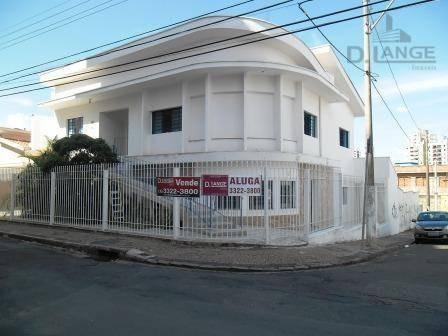 Casa Comercial Para Venda - Centro/botafogo (ót. P Renda - Já Locada), Campinas - Ca5770. - Ca5770