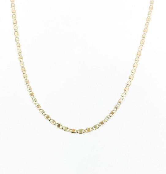 Cadena Espejo 3 Colores De Oro De 10k 60cm De 3gr