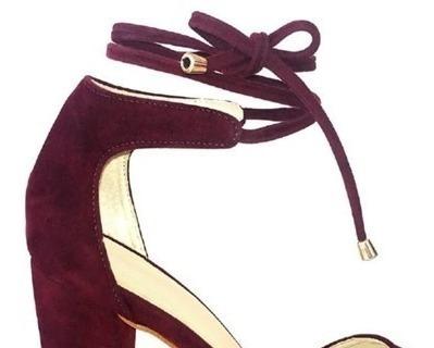 Sapato Scarpin Amarração Salto Fino 11 - 10 - 6,5 Cm