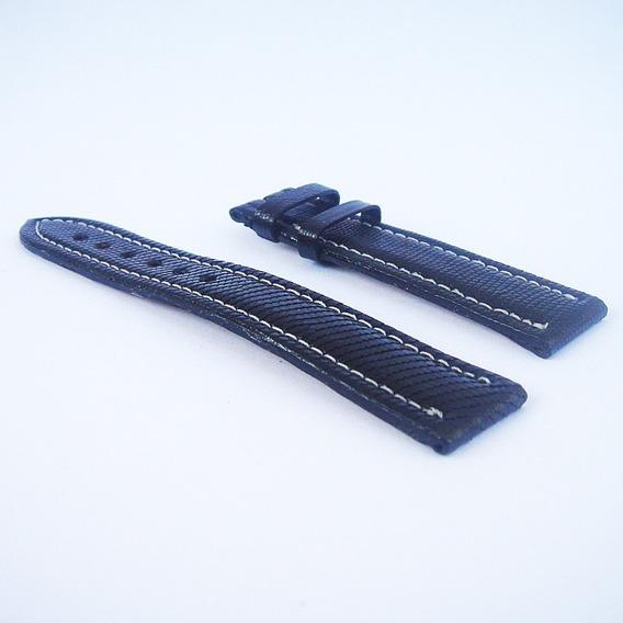 Pulseira De Couro Preto Breitling Relógio Masculino - 20/18mm #04