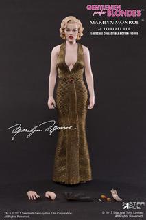 Hot Star Ace Toys Marilyn Monroe Vestido Dorado 1/6 Sideshow