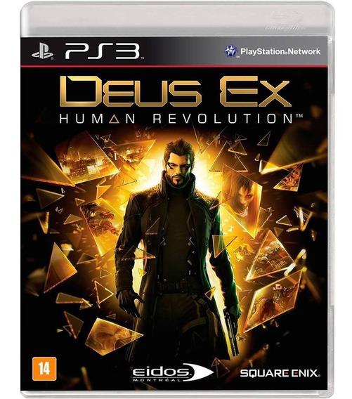 Deus Ex Human Revolution - Ps3 - Novo - Mídia Física