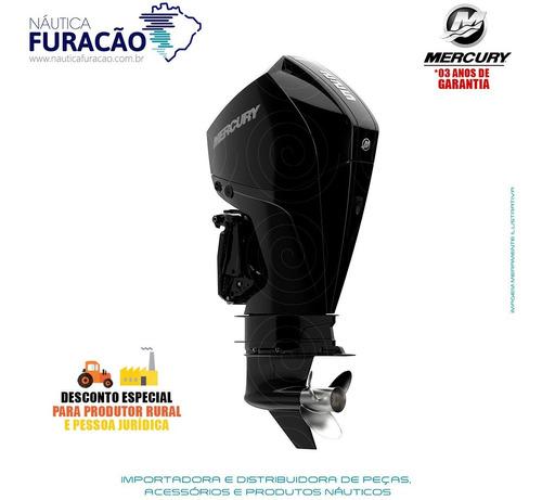Motor De Popa Mercury 4 Tempos 225hp Cxl Efi V6 Dts Preto