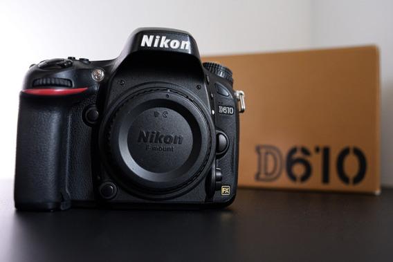 Câmera Nikon D610 Com Obturador Novo Em Excelente Estado