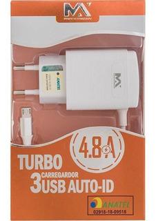 Carregador Turbo Original V8 J2 J3 J5 J6 J7, 4.8