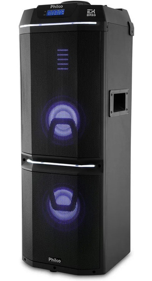 Caixa Acústica Philco Pcx9000 700w Bluetooth Função Luzes