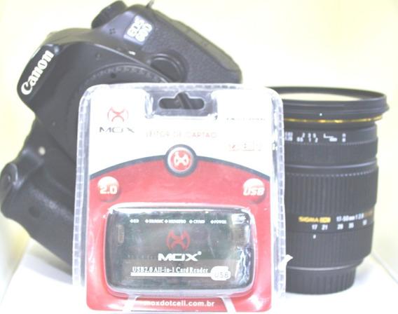 Camera Canon 60d Lente Sigma 17-50 2:8 + Leitor De Cartão