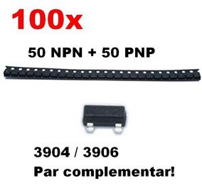 100pc Transistor Bjt Mmbt3904 Mmbt3906 Kit Par Complementar