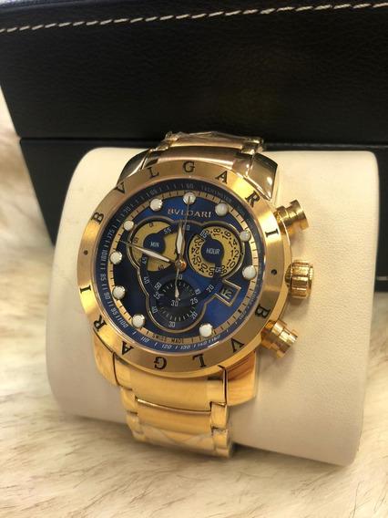 Relógio K501 Bv Azul Linha Venon Série Dourado 18k