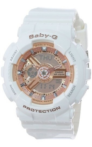 Casio Mujer Ba-110-7a1cr Baby-g Rosa Analog-digital Reloj Co