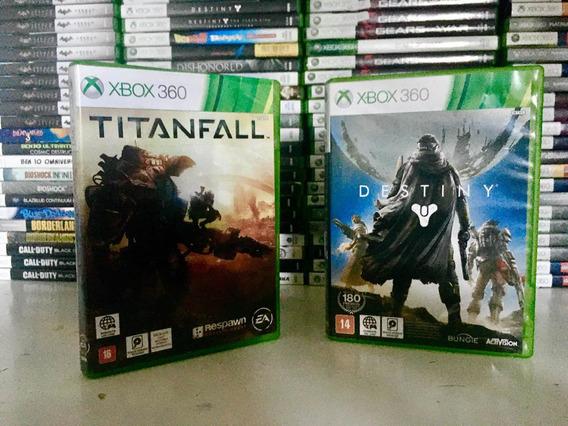 Titanfall Mais Destiny Original Para Xbox 360.