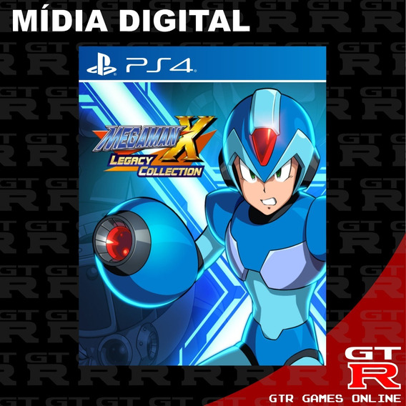 Mega Man X Legacy Collection Ps4 Primaria Psn Digital 4 Em 1