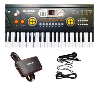 Teclado Piano Organo 5 Octavas Usb Mp3 Aux Power Bank