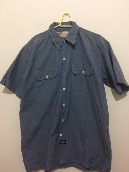 Camisa Dickies Casual Azul Estilo Jeans