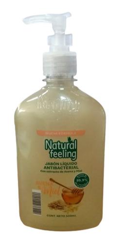 Imagen 1 de 2 de Jabón Líquido Antibacterial Natural Feeling