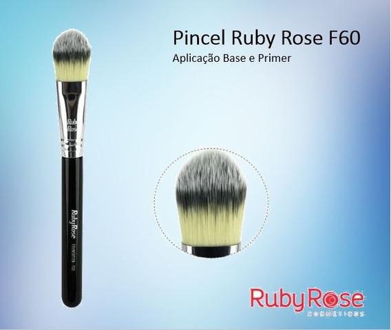 10 Pincel Ruby Rose Foundation F60 Base Kit C/ 10 Atacado