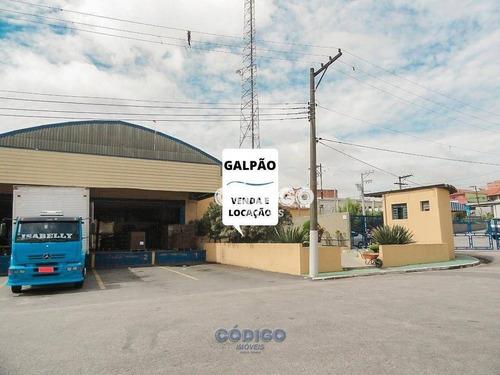 Imagem 1 de 29 de Galpão, 7674 M² - R$ 13.500.000 Ou Aluguel Por R$ 40.000 - Jardim Albertina - Guarulhos/sp - Ga0070