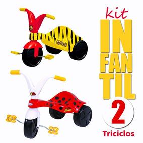 2 Motocas Triciclos Infantil Joaninha E Tigrão