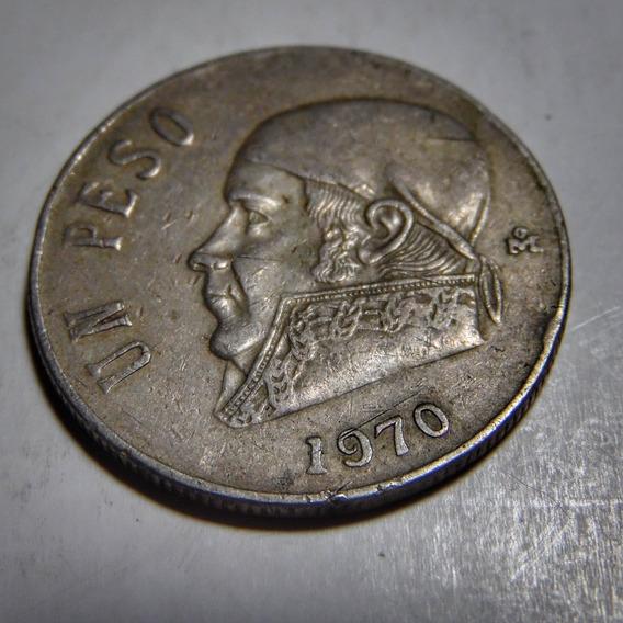 Moneda De 1 Peso Mexicano Del Año De 1970. Morelos