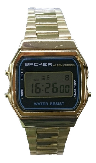 Relógio Masculino Backer Digital 15002475f - Dourado
