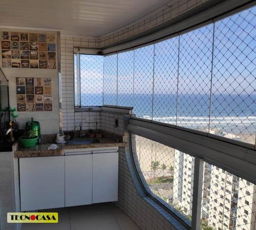 Imagem 1 de 30 de Lindo Apartamento Com 03 Dormitórios Para Venda Com 100 M² No Bairro Campo Da  Aviação Em Praia Grande/sp. - Ap6637