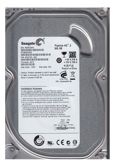 Disco rígido interno Seagate Pipeline HD ST3500312CS 500GB