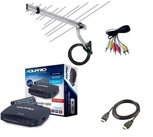 Kit Conversor Digital Aquário  Antena Digital Longo Alcance