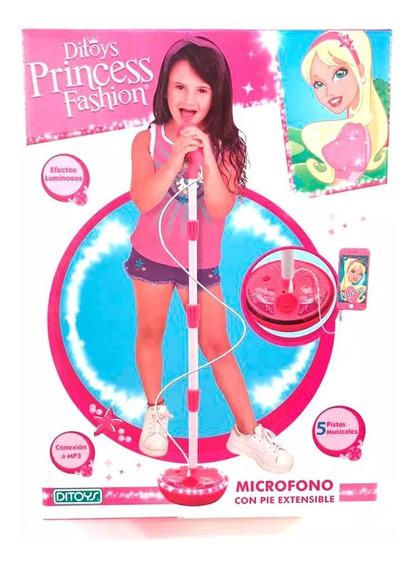Microfono De Pie Princesas Original Ditoys