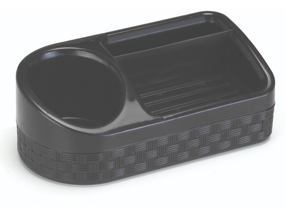 Porta Detergente Plástico Rattan Com Base Preto 43x42x42cm