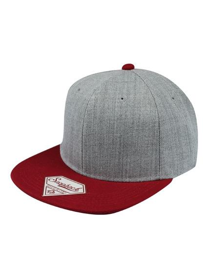 Gorra Sport Caps Snapback Jaspe Gris/rojo Unitalla