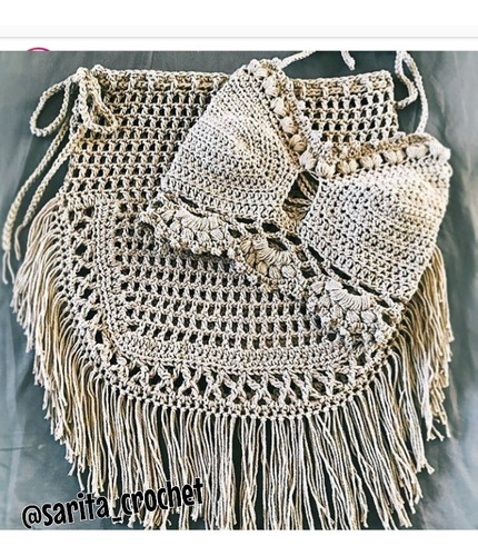 Conjunto De Playa Verano Dama Tejido Crochet