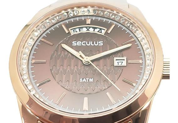 Relógio Feminino Seculus 35002lpsvrs1 Garantia Nota Fiscal